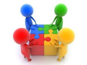 Teams Play Puzzle